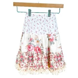 Mi Amore Gigi Tiered Floral Maxi Peasant Skirt 4